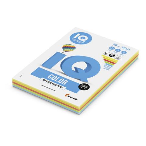 Бумага цветная для печати IQ Color Intensive 5 цветов (А4, 160 г/кв.м, 100 листов)