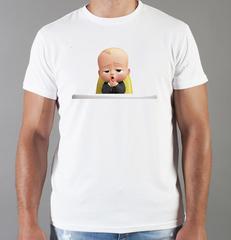Футболка с принтом мультфильма Босс-молокосос (The Boss Baby) белая 0010
