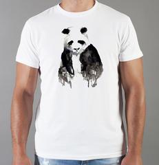 Футболка с принтом Панда, Медвежонок (Panda) белая 0018