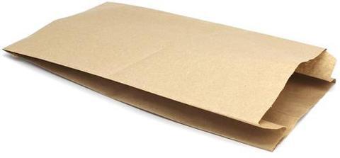 Фасовочный пакет 170х70х300 мм бумажный с плоским дном крафт40