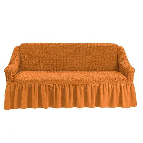 Чехол на трехместный диван, рыжий