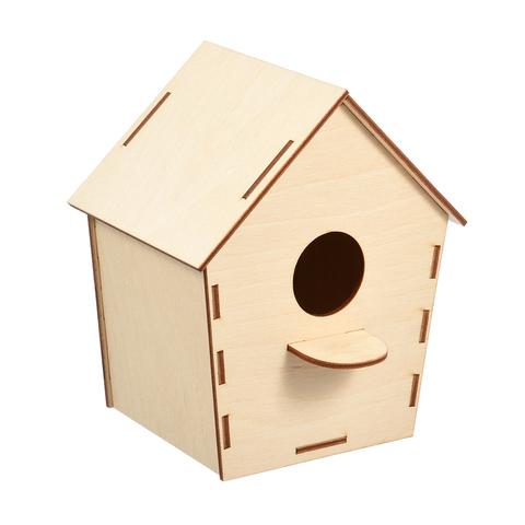 Скворечник «Домик» для птиц сборный, 19х15,5х12 см