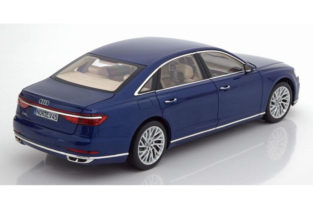 Коллекционная модель AUDI A8 L (D5) 2017 BLUE METALLIC