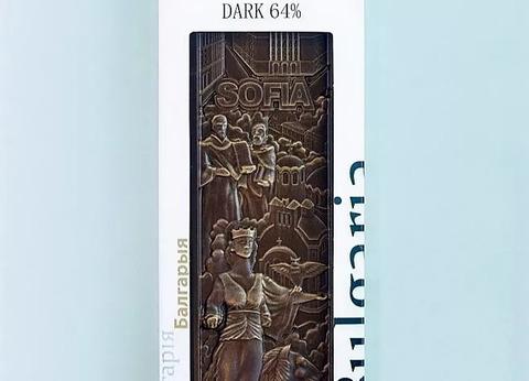 Барельефный  темный шоколад 64%  SOFIA