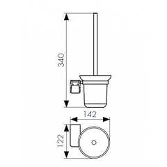 Держатель для туалетной щетки (ершик) настенный KAISER Vera KH-1706 схема