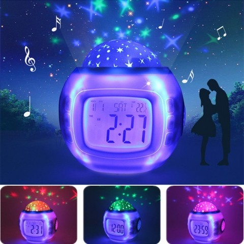 Часы будильник проектор зведного неба