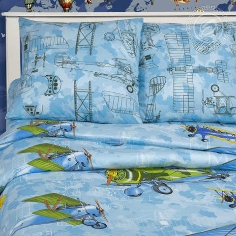 Детское постельное бельё Авиаторы ПОПЛИН