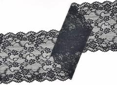 Эластичное кружево, 22 см, черное, м, (Арт: EK-2293), м