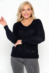 <p><span>Пуловер с люрексом- актуальная модель на осень. Идеальный женственный вариант на каждый день!&nbsp;</span></p> <p>&nbsp;</p> <p>&nbsp;</p> <p>&nbsp;</p> <p>(Один размер: 44-50)</p>