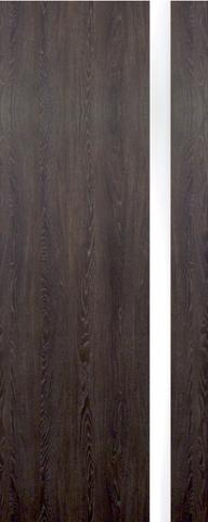 Дверь Ладора 3/1, триплекс белое, цвет дуб седой, остекленная