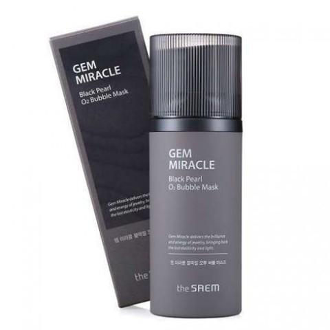 The Saem Gem Miracle Black Pearl O2 Bubble Mask маска кислородная с экстрактом жемчуга