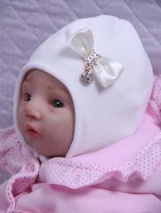 Велюровая шапочка Маленькое Чудо (кремовый)