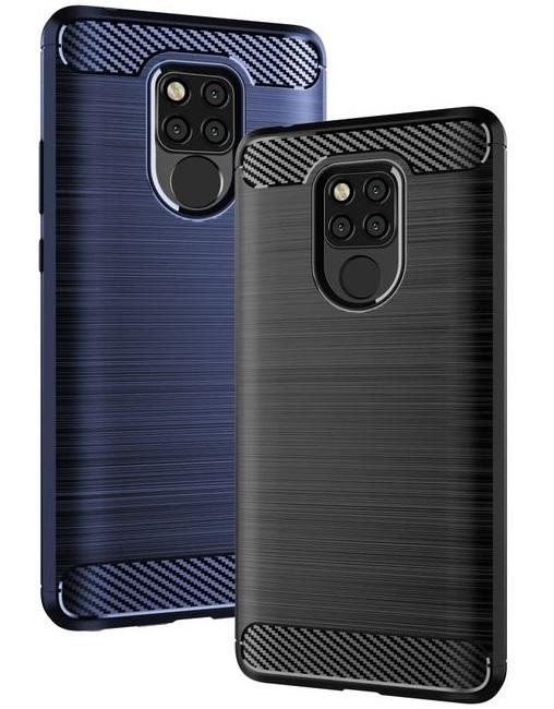 Чехол для Huawei Mate 20X цвет Blue (синий), серия Carbon от Caseport