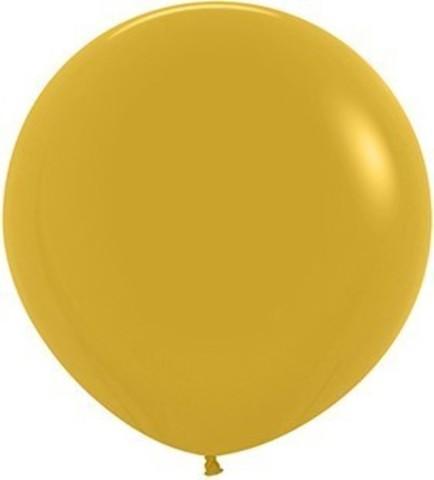 №4 Горчичный Гелиевый шар пастель 60см с обработкой