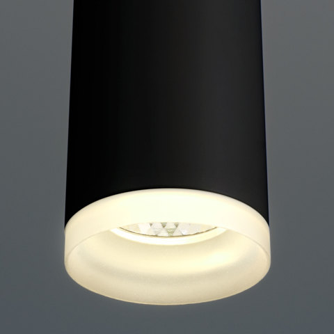 Подвесной светодиодный светильник DLR035 12W 4200K черный матовый