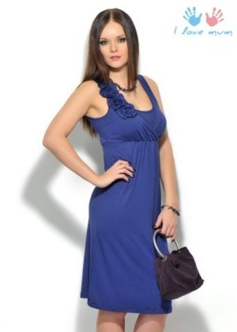Платье «Шерше ля фам» т.синий для беременных и кормящих