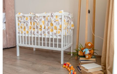 Кроватка детская приставная Polini kids Simple 100, белый