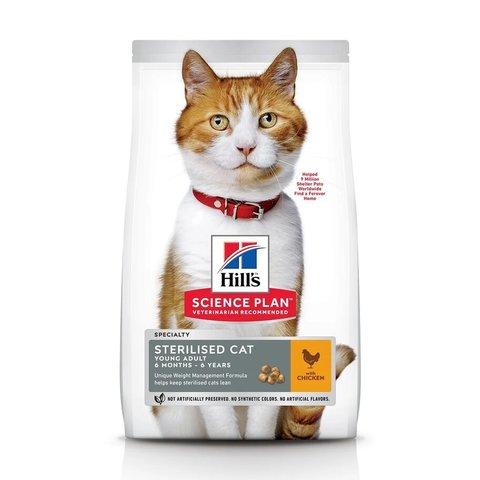 Сухой корм Hill's Science Plan для молодых стерилизованных кошек и кастрированных котов, с курицей