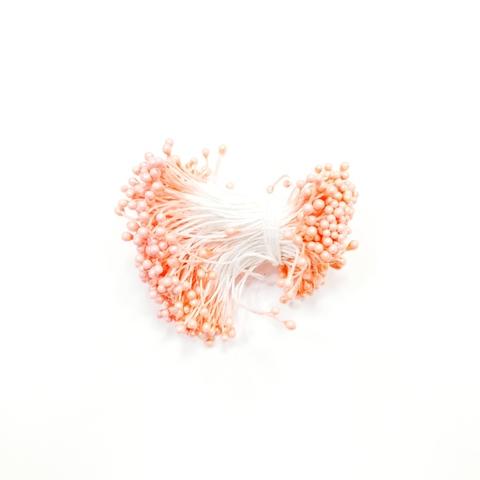 Тычинки для цветов, персиковые, 50 шт