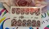 Фольга для дизайна ногтей цвет красный 57 купить за 120руб