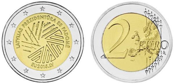 2 евро 2015 Латвия - Председательство Латвии в Совете ЕС