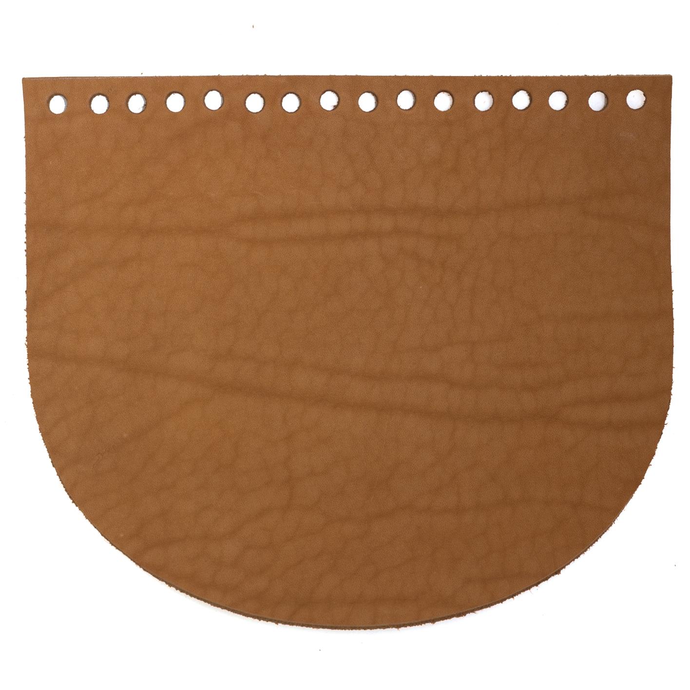 Кожаная фурнитура Клапан для сумочки кожаный песочный-мрамор IMG_9140.jpg