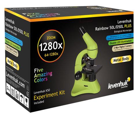 Микроскоп Levenhuk Rainbow 50L PLUS Lime\Лайм
