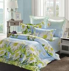 Сатиновое постельное бельё  1,5 спальное Сайлид  В-147