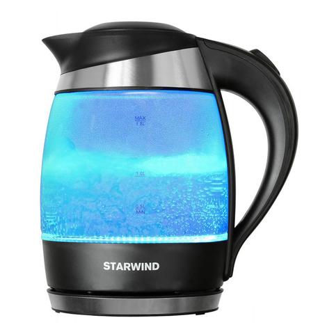 Чайник электрический Starwind (1,8 литра) 2200 Вт, LED подсветка, голубой