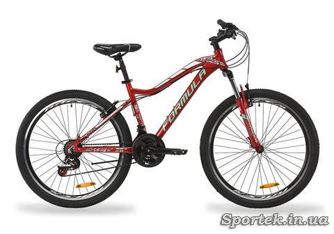 Горный женский алюминиевый велосипед Formula Mystique 2.0 AL AM VBR 2020 - рубиновый с зеленым и белым