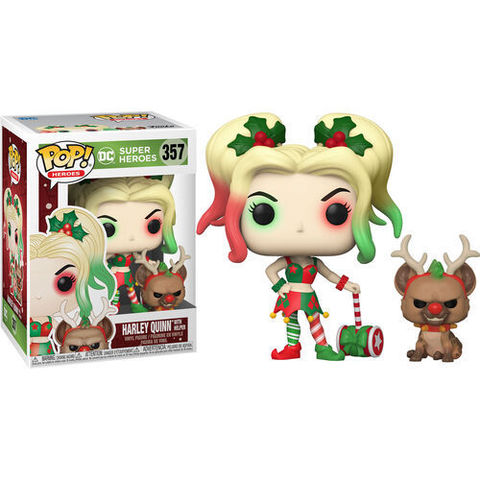 Harley Quinn with Helper DC Christmas Funko Pop! || Харли Квинн с помощником