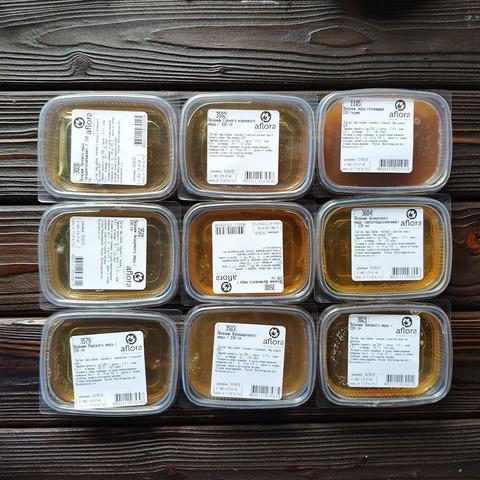 Фотография Пробник меда Подсолнечник разнотравье / 100 гр купить в магазине Афлора
