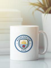 Кружка с изображением FC Manchester City (ФК Манчестер Сити) белая 001