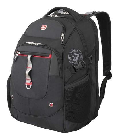 Рюкзак городской Wenger ScanSmart черный/красный 34 л