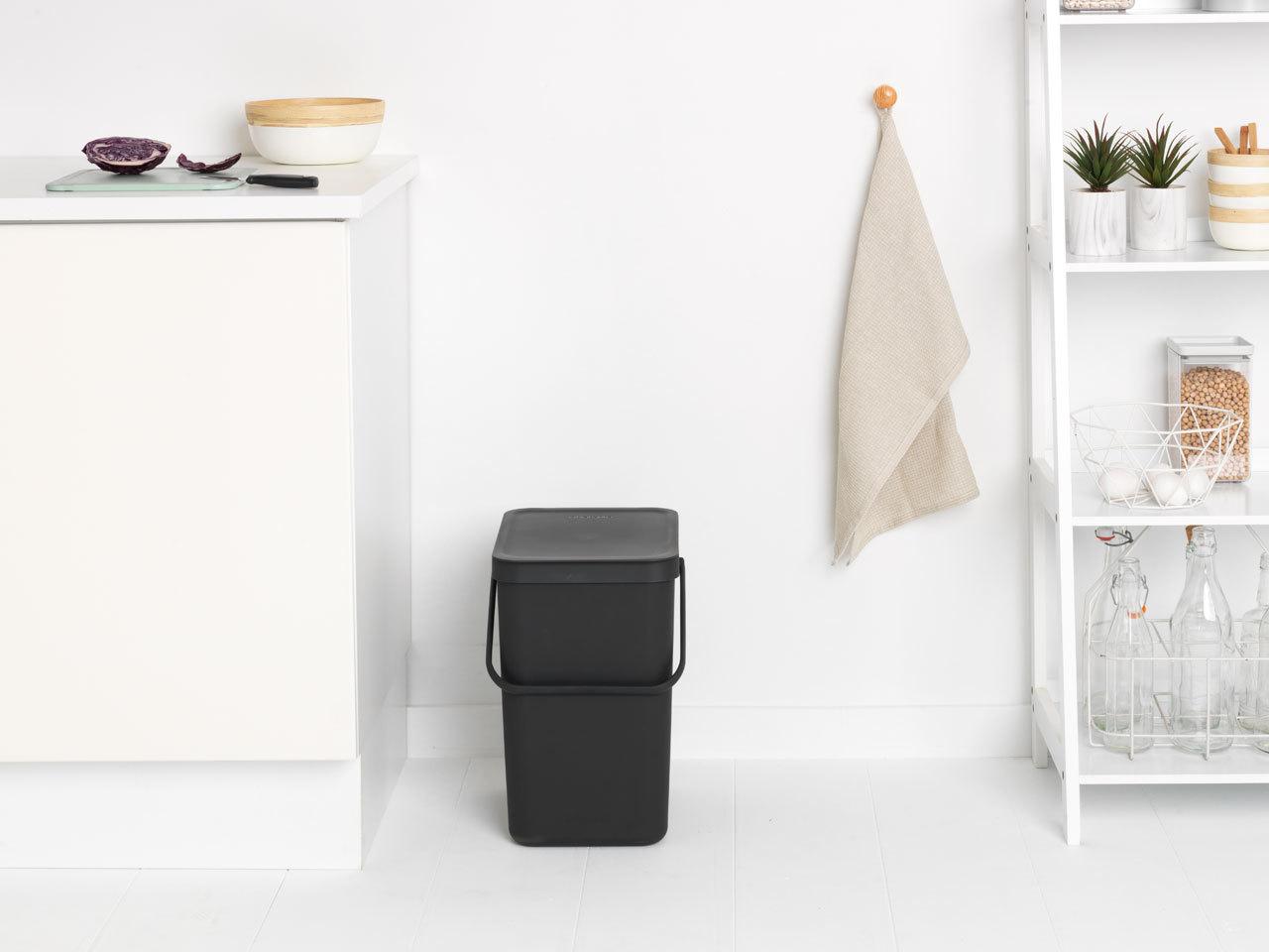 Встраиваемое мусорное ведро Sort & Go (25 л), Серый, арт. 129940 - фото 1
