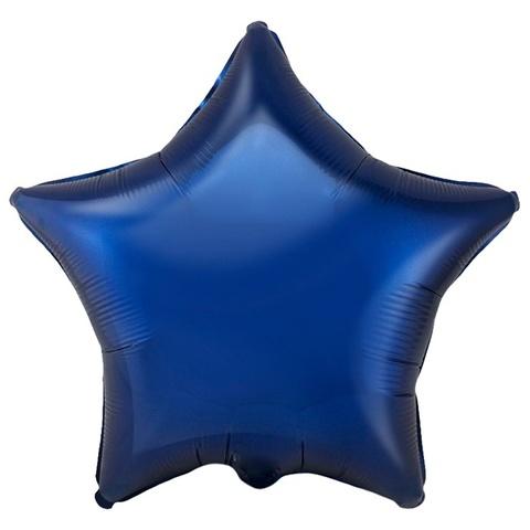 воздушный шар фигура звезда темно-синий