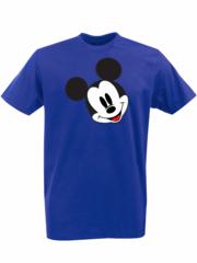 Футболка с принтом Микки Маус (Mickey Mouse) синяя 002