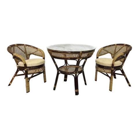Комплект обеденный JAVA-1 (стол + 2 кресла)