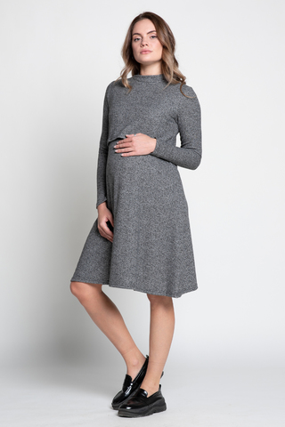 Платье для беременных и кормящих 12964 черный
