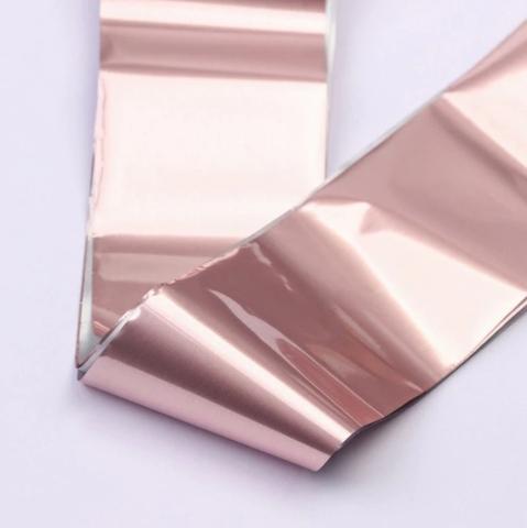 Фольга для дизайна ногтей (розовый жемчуг)