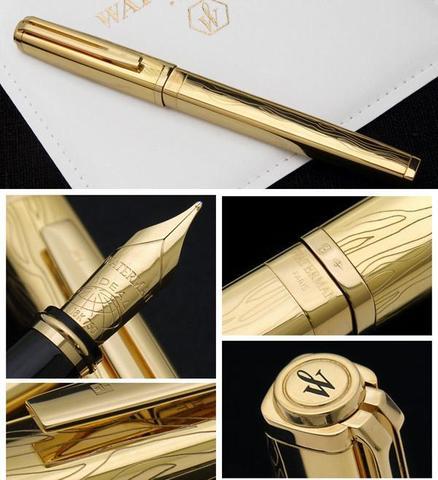 Перьевая ручка Waterman Exception Solid Gold, цвет: Gold (золото),  перо: M, перо: золото 18К123