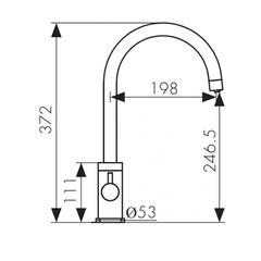 Смеситель KAISER Merkur 26744 для кухни под фильтр (5 цветов) схема