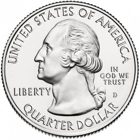 25 центов 30-й парк США Саратога 2015 г. (двор D)