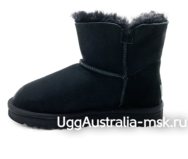 UGG MINI BAILEY BUTTON STAR BLACK