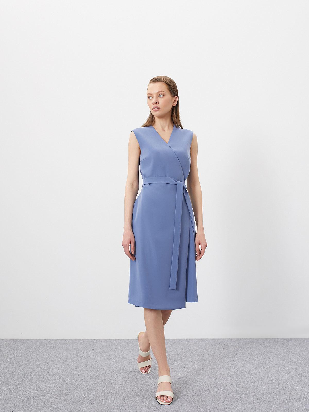 Платье Garnet без рукавов на запах