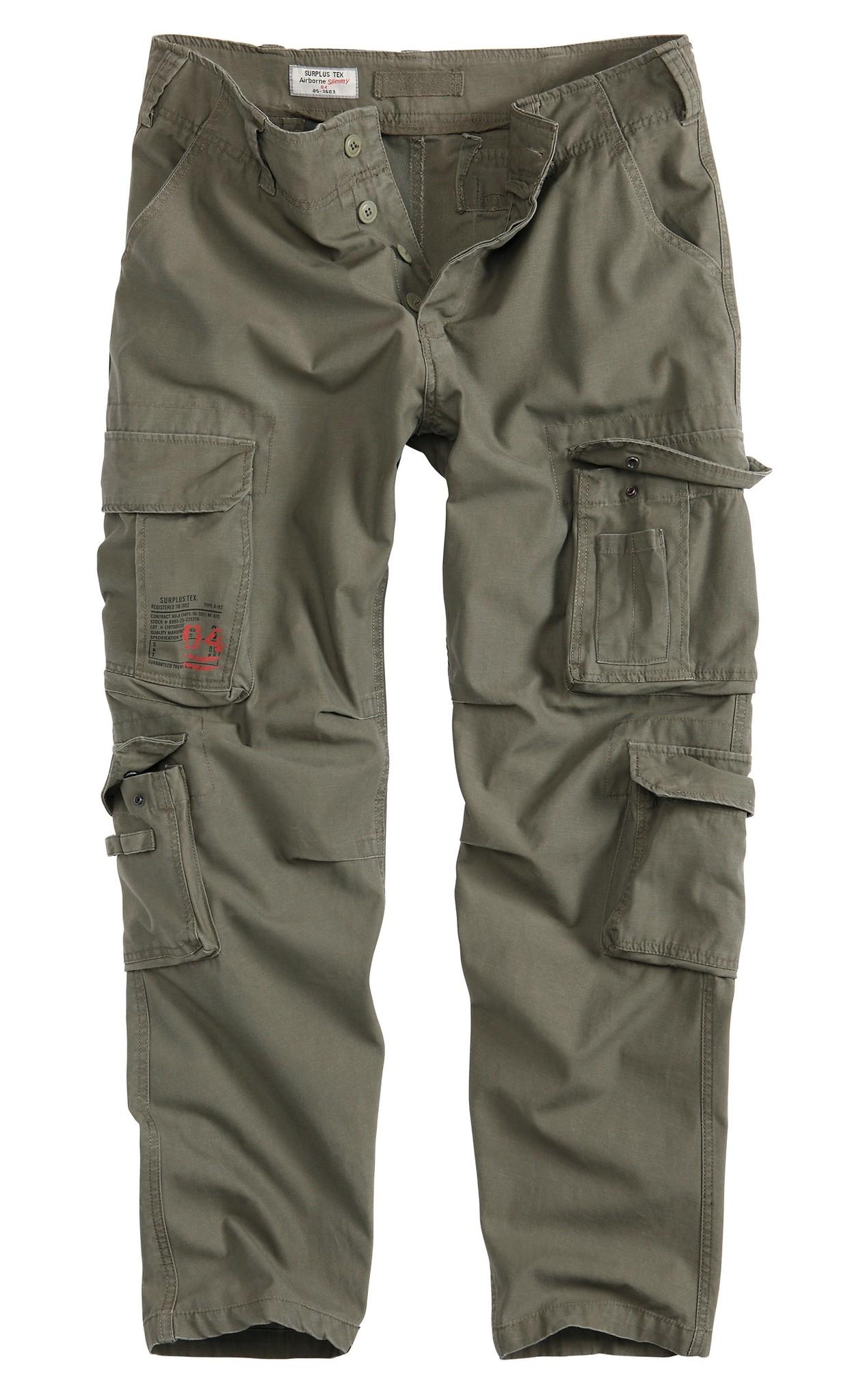 Штаны  Surplus Airborne Vintage Slimmy (олива - olive)