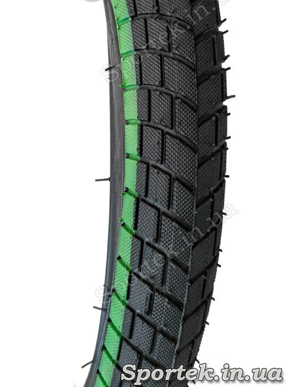 Велосипедная покрышка 18 х 2,125 дюйма (57-355 ISO) Xinhanya (Китай) - протектор
