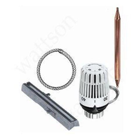 Термостатическая головка с выносным датчиком и монтажным комплектом (диап. 20-50°С)  МКС100