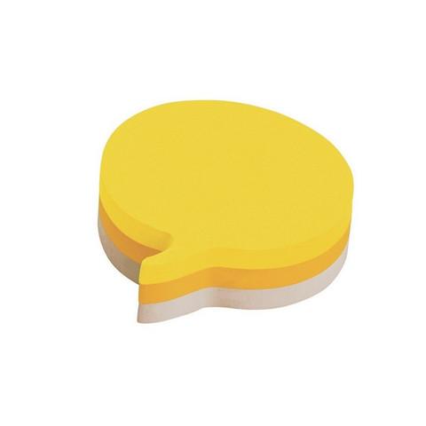 Стикеры фигурные Post-it Реплика 70x70 мм неоновые 3 цвета (1 блок, 225 листов)