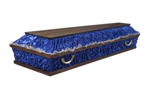 Гроб комбинированный ФКЭ-4 (синий)